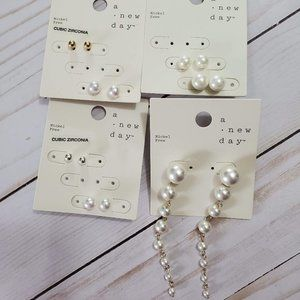 A New Day Earring Assortment with Faux Pearls